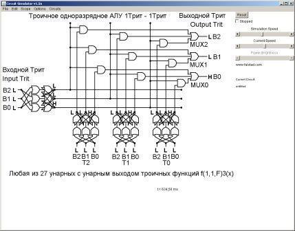 1Трит) в симуляторе схем
